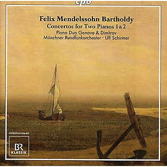 F.M. Bartholdy - Mendelssohn Bartholdy: Concertos for Two Pianos Nos. 1 & 2 [CD] USA import
