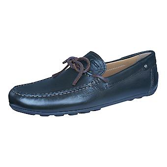 Geox Shoes U Giona E Mens Leather Moccasins / Shoes - Chocolate