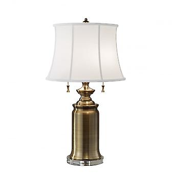 Feiss Stateroom 2lt Table Lamp Bali Brass