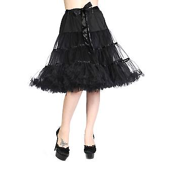 Banned Apparel Ribbon Petticoat Black