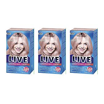 Schwarzkopf X 3 Live Lightener + Twist Cool Rose 101