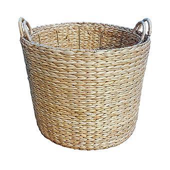 Large Round Water Hyacinth Storage Basket