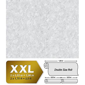 Uni wallpaper EDEM 9076-20 non-woven wallpaper coined in trowel finish and metallic effect white 10.65 m2