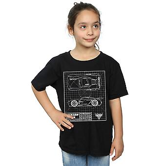Disney jenter biler Jackson Storm Blueprint t-skjorte