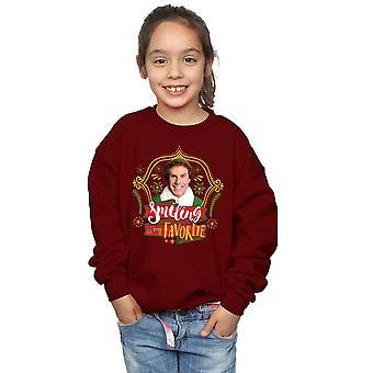 Elf Girls Buddy Smiling Sweatshirt