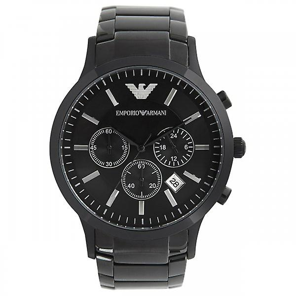 Armani Watches Ar2453 Gents Black Stainless Steel Watch