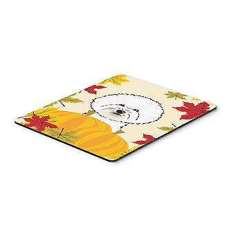 Bichon Frise Thanksgiving Mouse Pad, Hot Pad or Trivet