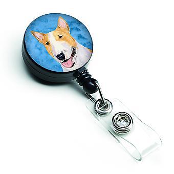 Bull Terrier versenkbare Abzeichen Reel oder ID-Halter mit Clip SS4772