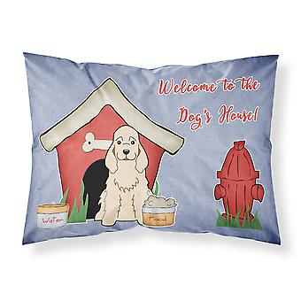Dog House Collection Cocker Spaniel tissu chamois taie d'oreiller Standard