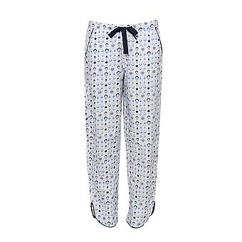Cyberjammies 3461 Josie White and Blue Geo Print Pyjama Pant