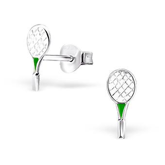 Badminton - 925 Sterling Silver Colourful Ear Studs