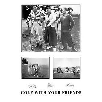 Three Stooges Golf With Your Friends Poster Print (24 x 36)