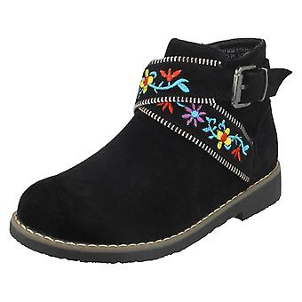 Girls Spot On Suede Ankle Boots H5072