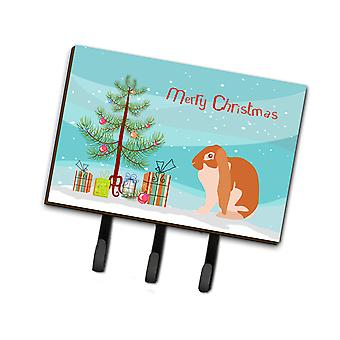 Carolines Treasures  BB9329TH68 English Lop Rabbit Christmas Leash or Key Holder
