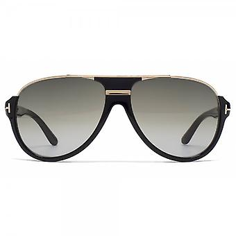 Tom Ford Dimitry Pilot Sunglasses In Shiny Black