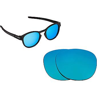 Latch Replacement Lenses Polarized Blue Mirror by SEEK fits OAKLEY Sunglasses