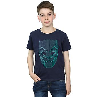 Marvel Boys Black Panther Tribal Mask T-Shirt