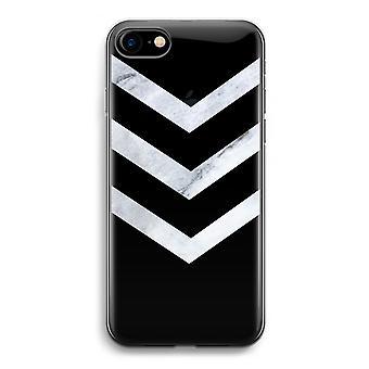 iPhone 7 透明ケース (ソフト) - 大理石矢印