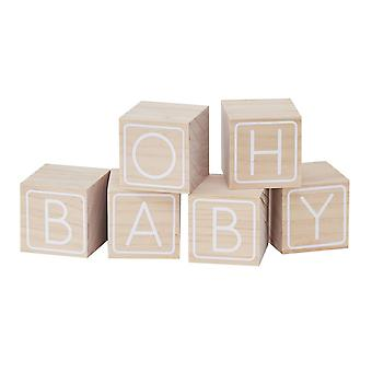 BUILDING BLOCK GUEST BOOK ALTERNATIVE - OH BABY!