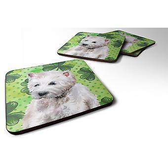 Set of 4 Westie St Patrick's Foam Coasters Set of 4