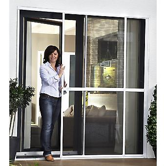 Double sliding door insect screen door Kit 230 x 240 cm anthracite