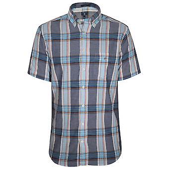 Gant GANT Perzisch blauw Check regelmatig korte-mouw Shirt