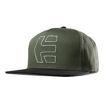Etnies Stretch Icon Snapback Cap - Olive / Black