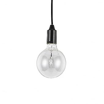 Ideal Lux Edison Style Light Bulb Black Pendant Drop