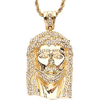 Iced Out Bling Hip Hop Anhänger - JESUS gold