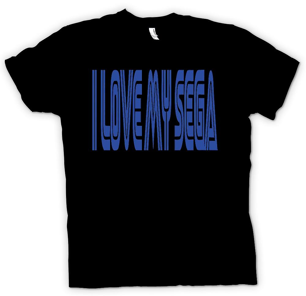 Womens T-shirt - I Love My Sega - Retro - Gamer - Funny