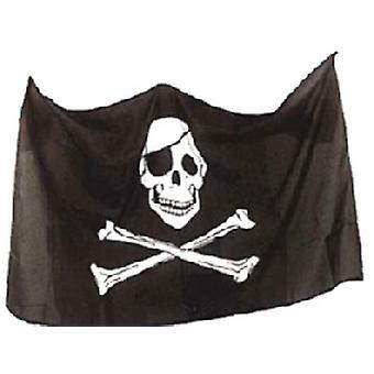 Pirat Flag kraniet og krydsede 3 ft x 2 ft (100% Poly) med snøreringe