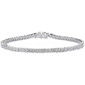 Cavendish French Circle Cubic Zirconia Tennis Bracelet - Silver