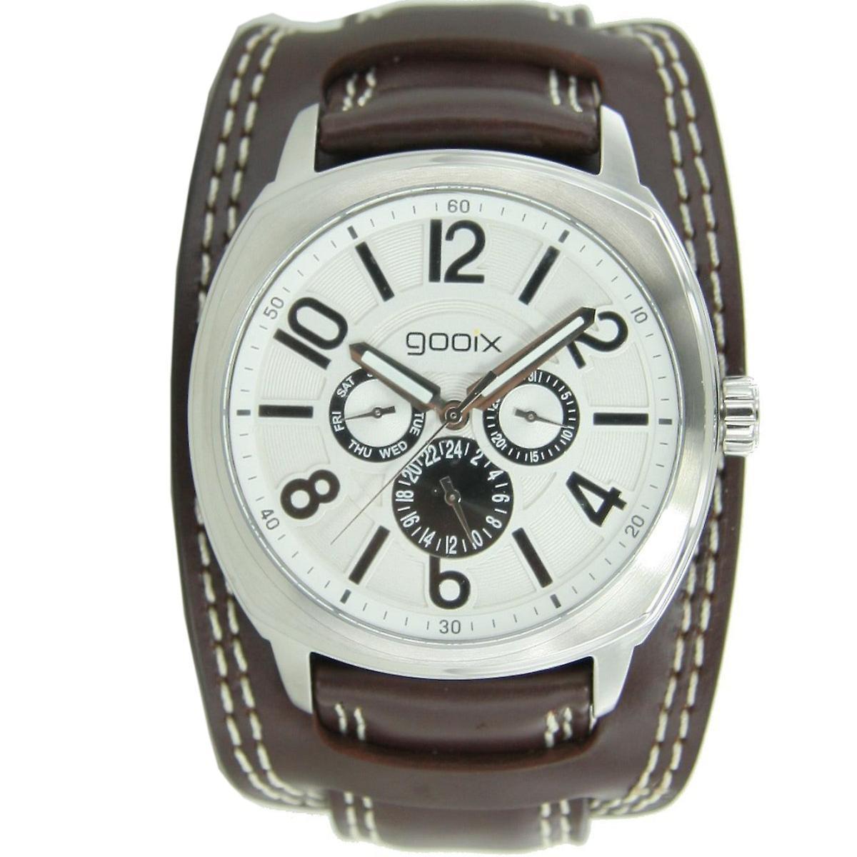 gooix mens watch wristwatch leather analog GX01104034