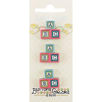 Baby Hugs Buttons-Baby Blocks