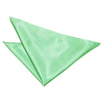 Menta verde pianura raso Pocket Square