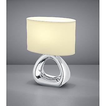 Trio Beleuchtung Gizeh Modern Silber Keramik Tischleuchte