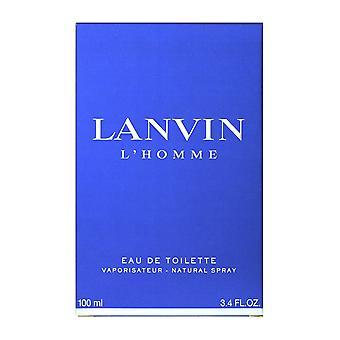 LANVIN L'homme Eau de Toilette Spray 3.4Oz/100ml New In Box