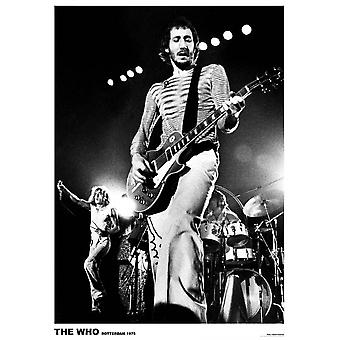 Who - Pete Townsend Live Rotterdam 1975 Poster Poster Print
