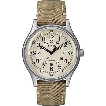 Timex heren horloge MK1 staal 40 mm stof armband TW2R68000