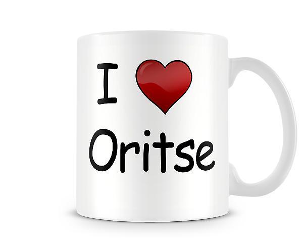 Jeg elsker Oritse trykte krus