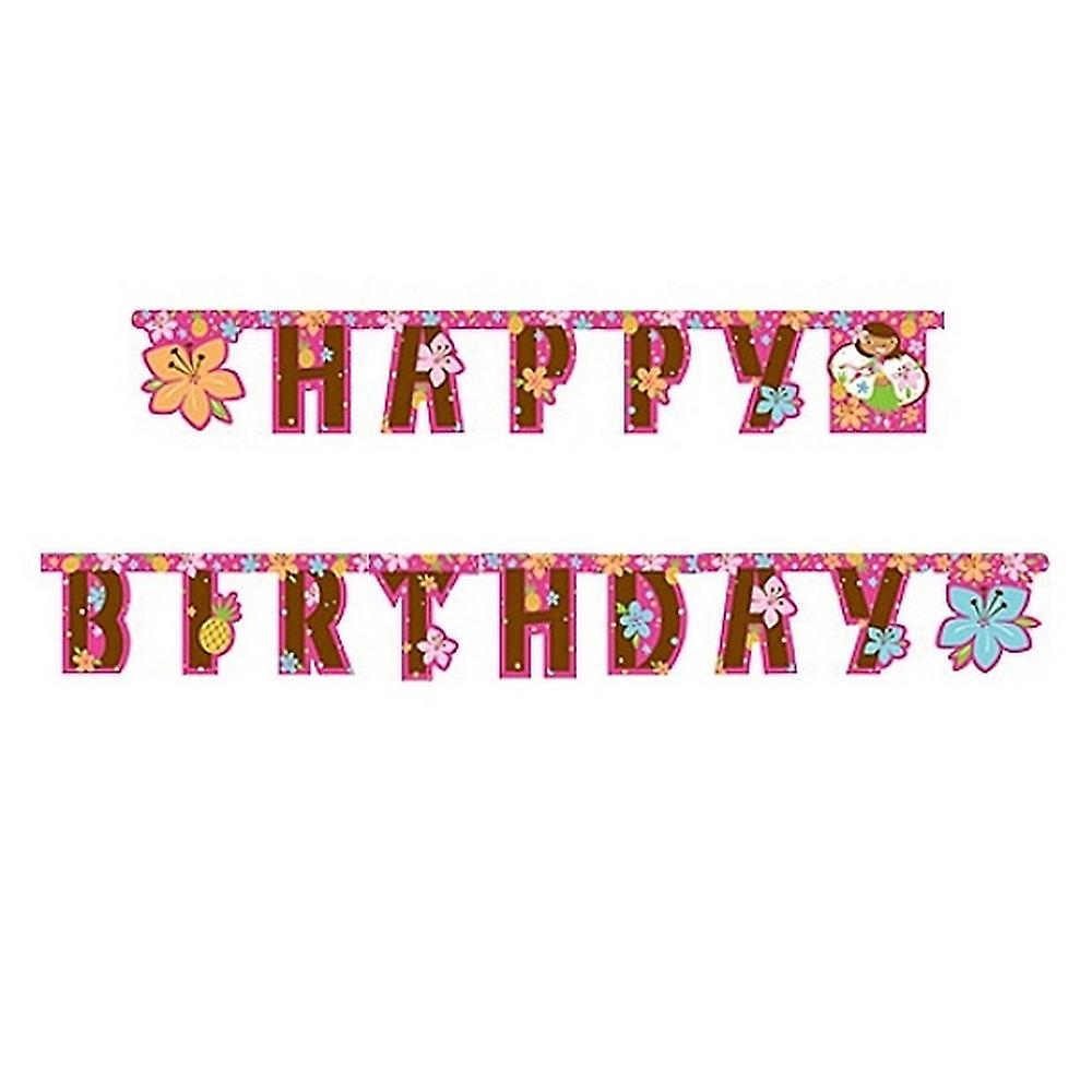 Creative Party 9 Foot Jointed Letter Banner Pink Luau