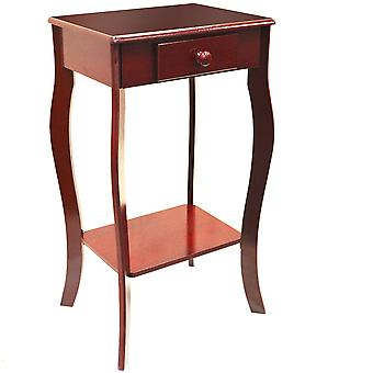 Kadoka - Wooden Telephone / End Table With Storage Drawer - Cherry