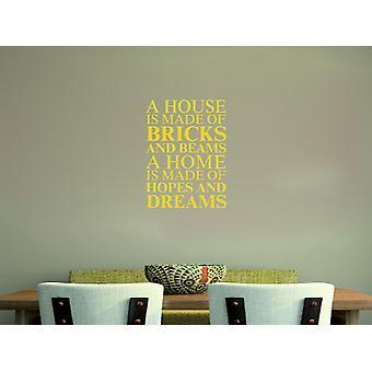 A house is made of Wall Art Sticker - Dark Yellow