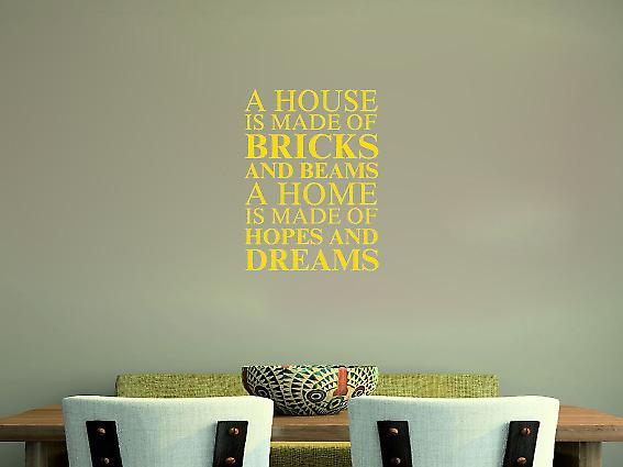 A house is made of Wall Art Sticker - Dark Yellow