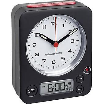 TFA 60.1511.01 Radio Alarm clock Black Fluorescent Hands