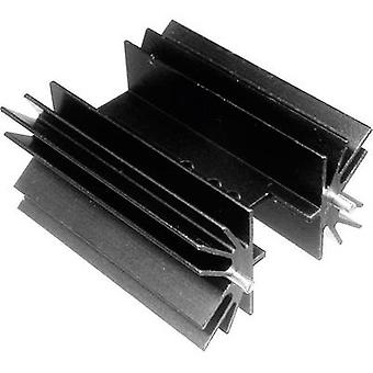 Fin heat sink 4 C/W (L x W x H) 50.8 x 41.6 x 25 mm TO 220, TOP 3, SOT 32 ASSMANN WSW V8511Y