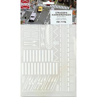 H0 Road markings Busch 7196