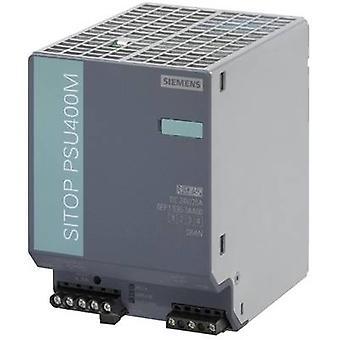 Siemens SITOP PSU400M 24 V/20 A Rail mounted PSU (DIN) 24 Vdc 20 A 480 W 1 x
