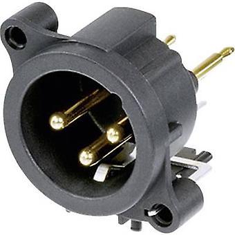 XLR connector Sleeve plug, straight pins Number of pins: 3 Black Neutrik NC3MAV 1 pc(s)