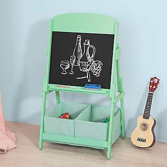 SoBuy bambini arte cavalletto lavagna lavagna con 2 scatole di immagazzinaggio, verde KMB03-GR